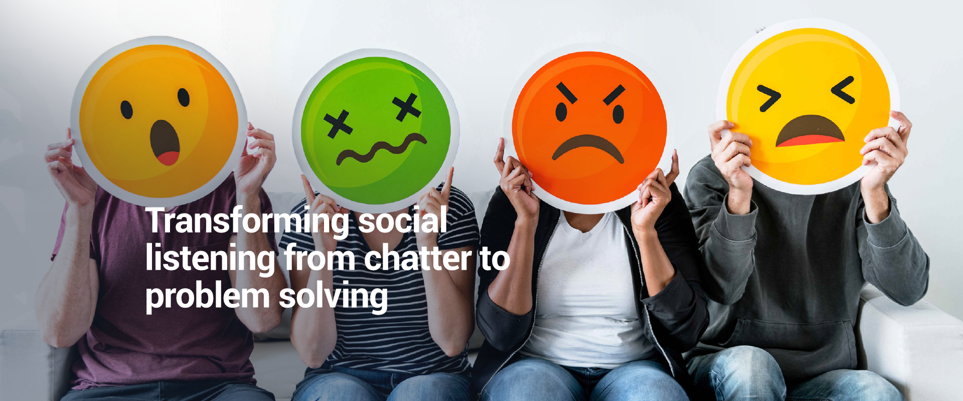 Transforming social listening from chatter to problem solving